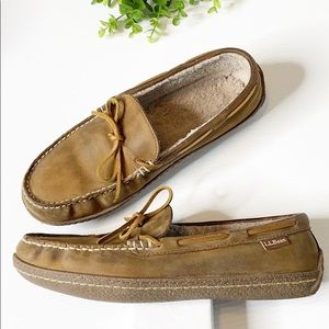 LL Bean Leather Loafers Moccasins (9)